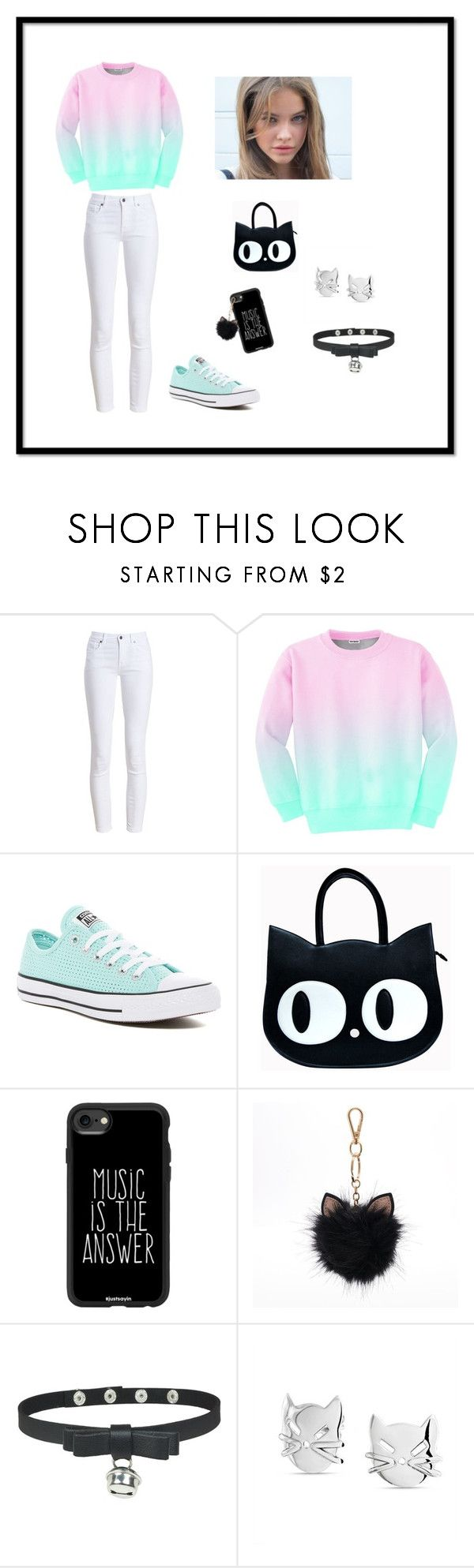 """""""4"""" by jojochan28 on Polyvore featuring moda, Barbour, Aloha From Deer, Converse, Casetify, LC Lauren Conrad y Bling Jewelry"""