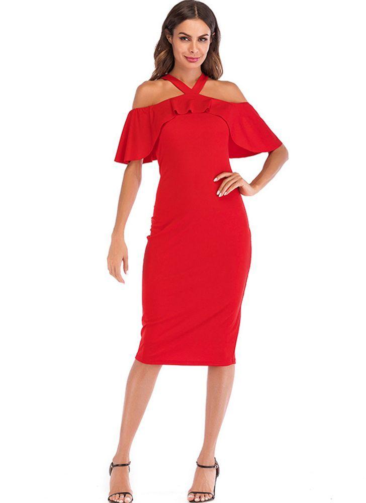 8be3b28f Falbala Sexy Halter Women's Bodycon Dress in 2018 | Shoespie Dresses ...