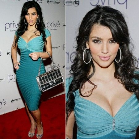 Kim Kardashian Crystal Colorblock Bandage Dress http://www.celebdressy.com/Kim-Kardashian-Hosts-A-Night-At-Prive-Las-Vegas-with-a-Crystal-Colorblock-Dress