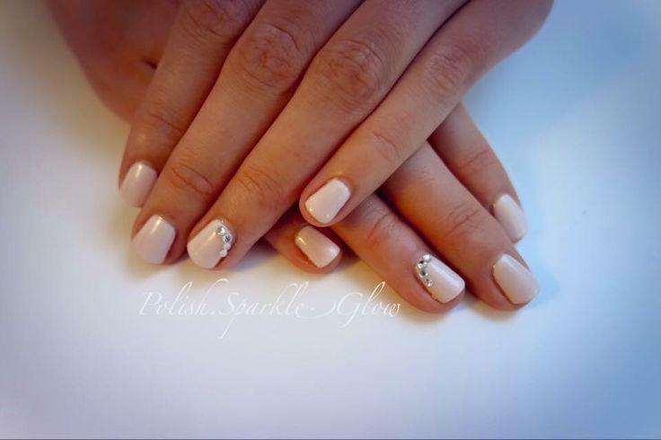 Plain & simple #nudenails #bling #simplenails
