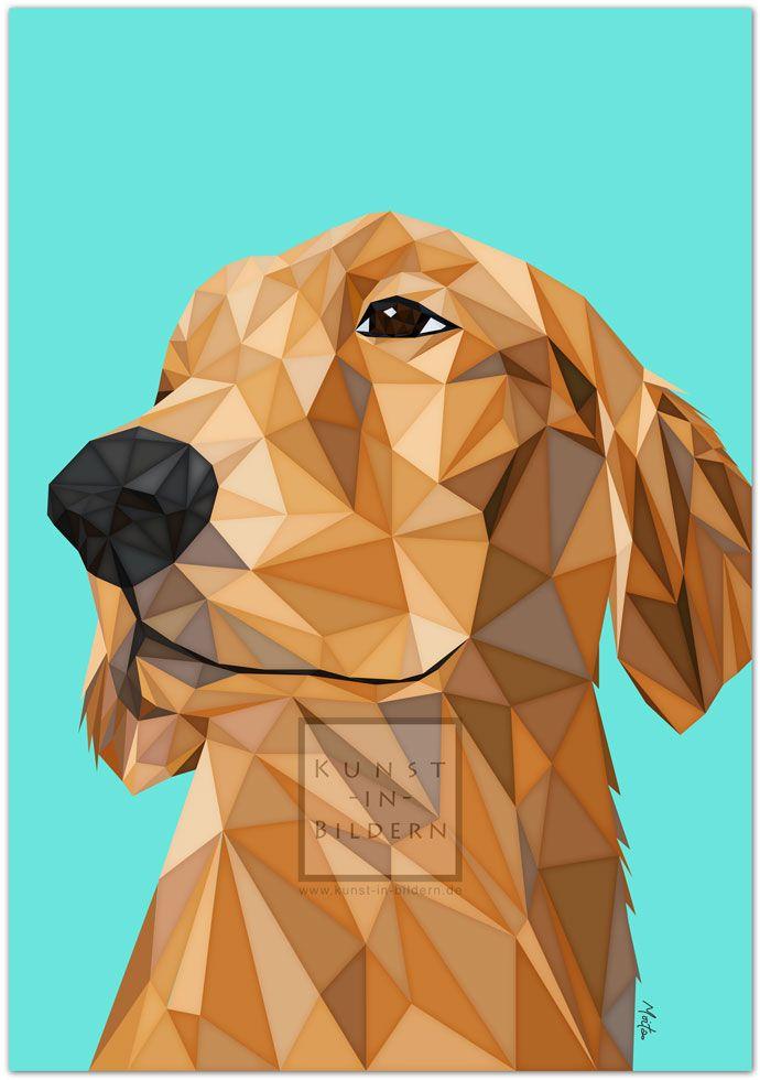 Ich bin ein Golden Retriever by Moitao. #hund #dog #hunde #dogs #kunst #art #digital #illustration #goldenretriever #retriever | http://www.kunst-in-bildern.de/bildergalerie/golden-retriever