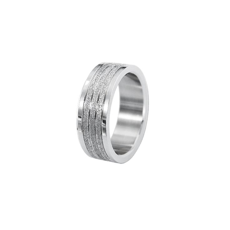 Man About Town - Polished Ring with Crystal Stardust bands http://lily316.com.au/shop/collection/polished-steel-ring-with-triple-bands-of-stardust/