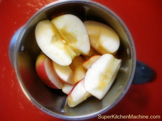 Make it with Thermomix: Applesauce » Super Kitchen Machine (Thermomix) •4 large flavorful apples (we all have our preferences, but organic apples are best) •75 g water •½ tsp. citric acid (optional — ask at health food stores and drug stores.)