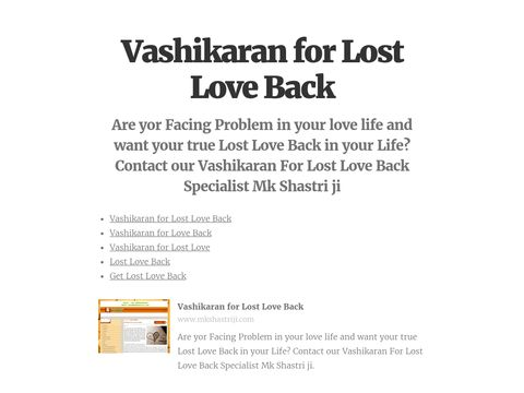 Are yor Facing Problem in your love life and want your true Lost Love Back in your Life? Contact our Vashikaran For Lost Love Back Specialist Mk Shastri ji  #VashikaranforLostLoveBack, #VashikaranforLoveBack, #VashikaranforLostLove, #LostLoveBack, #GetLostLoveBack