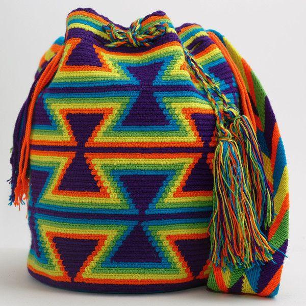 WAYUU TRIBE | #Handmade Bohemian Bags made by the indigenous Wayuu Tribe in Colombia!  #Bags starting at $98.00 - $225.00 We offer international shipping including Brazil.  #Mochila #Bolsa #Yoga #Crochet #Knit #yarn #moda #mode #boho #handbag #streetstyle