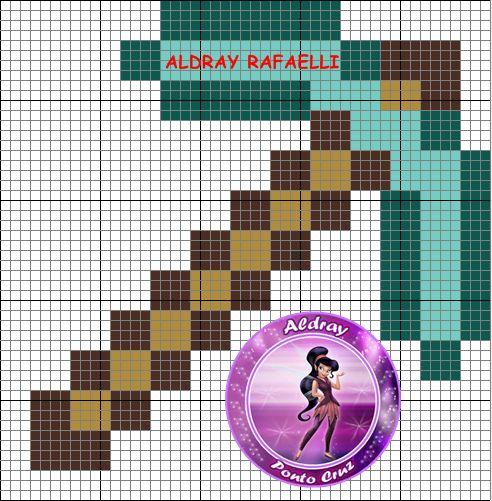 Minecraft Pick Axe Perler Bead Pattern By Drayzinha Minecraft Pinterest Perler Beads