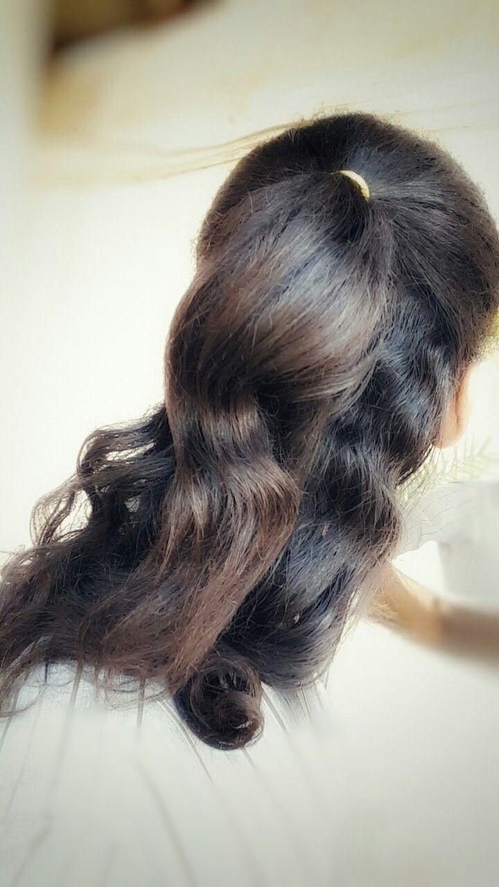 Hair Style Hairstyle Tie Ponytail Half Ponytail تسريحة شعر ذيل الحصان النصفية الشعر المربوط Half Ponytail Long Hair Styles Hair