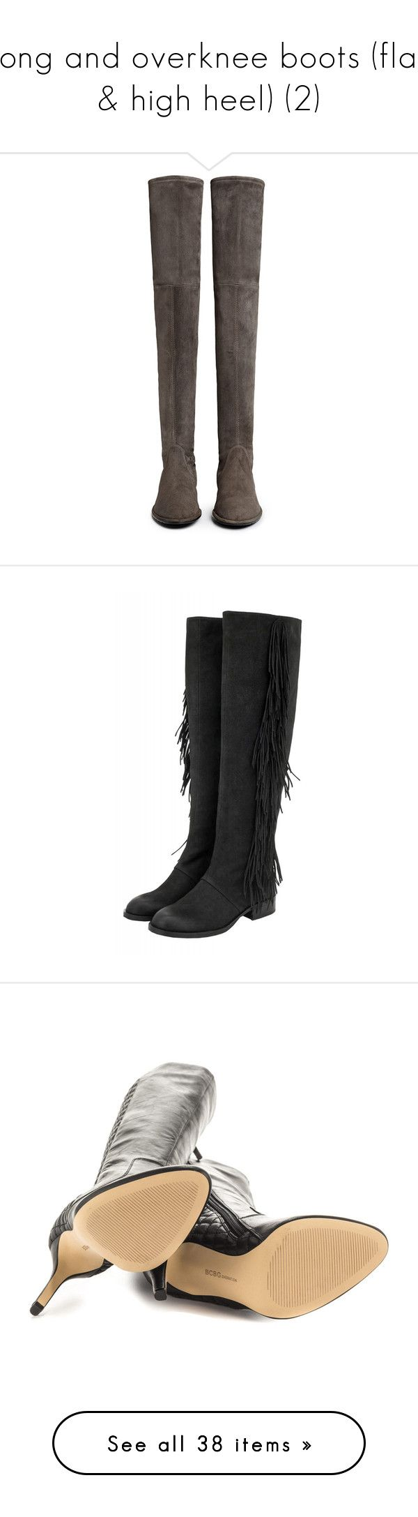 """""""long and overknee boots (flat & high heel) (2)"""" by bonadea007 ❤ liked on Polyvore featuring shoes, boots, stretch boots, stuart weitzman boots, over the knee boots, suede boots, over the knee stretch boots, flat knee high boots, sam edelman boots and black boots"""