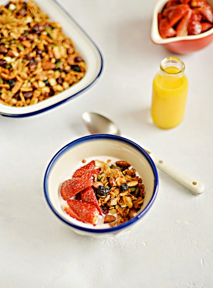Lemon & Vanilla: The Kitchn granola / Granola do livro The Kitchn.