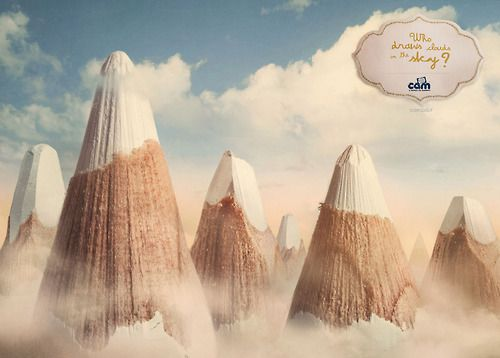 "Designersgotoheaven.com - ""Who draws clouds in the sky?"" by DLVBBDO, Milan"