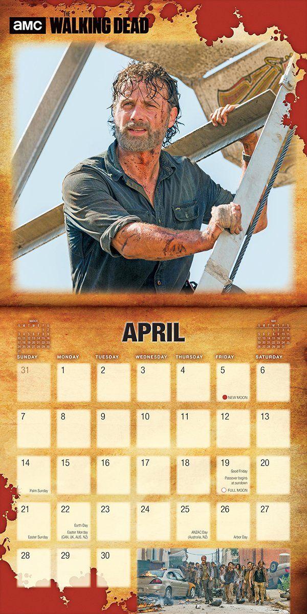 Amc The Walking Dead 2019 Wall Calendar Calendar Wall Calendar June 22 2018 Dead Amc Walking Wall Wall Calendar Amc The Walking Dead