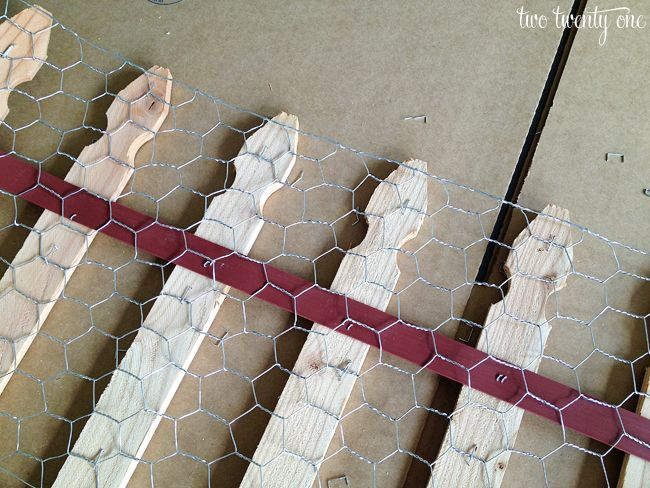Diy garden fencing. I have done this with cheap push in wire fencing too. Less noticeable!