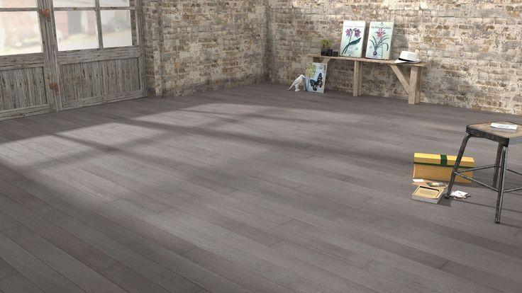 Parquet contrecollé Chêne gris argent Woodloft