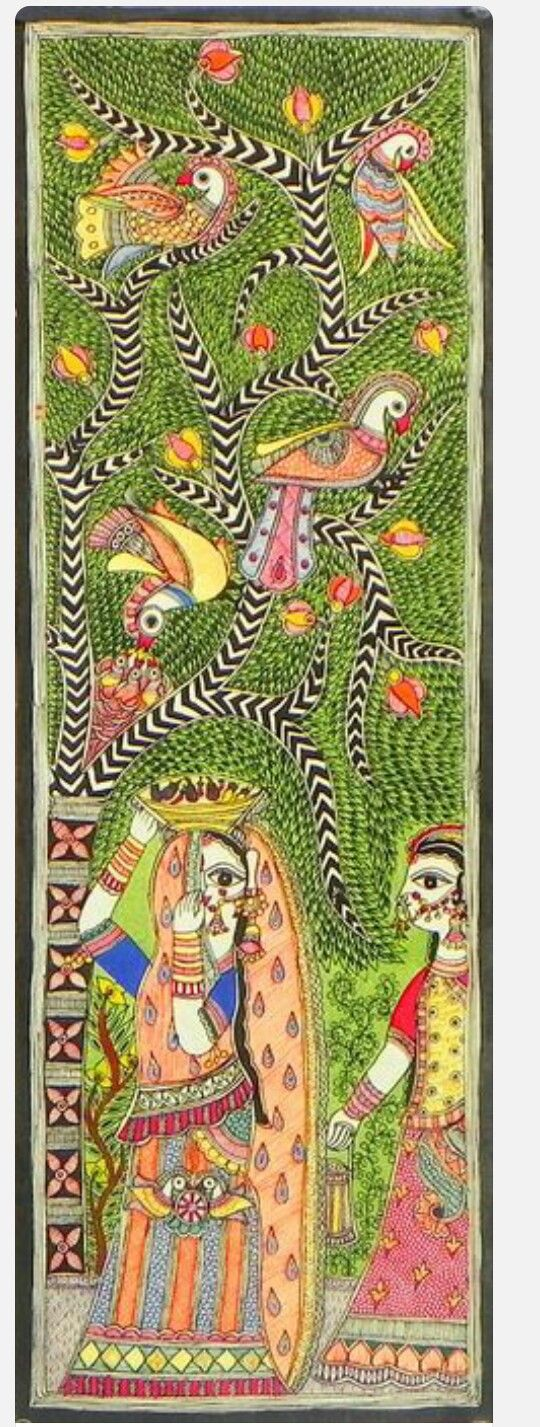 17 best images about amazing madhubani on pinterest folk for Mural fish in tamil