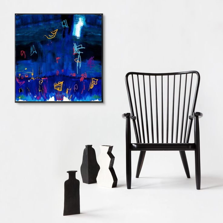 """Giclée fine art print """"Espansioni in blu"""" - Blue, Yellow, Red, Azur  Stampa artistica fine art Giclée da pittura moderna astratta, da originale in pittura manuale e digitale realizzata da D.S. StudioS129    Disponibile fino al formato massimo 40x40""""    Giclée fine art print - limited edition - Original unique, hand-painted and digitized - cards or special quality canvas - professionally executed large prints Epson printers to special inks suitable for museum conservation. Each print is…"""