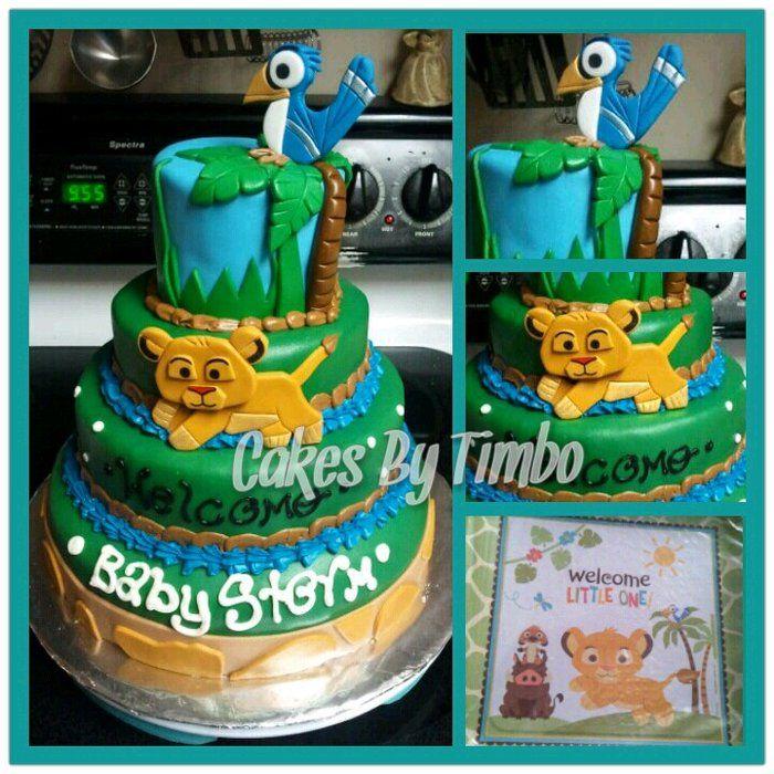 Baby Shower Simba | Baby Simba Cake!   By Timbo @ CakesDecor.com