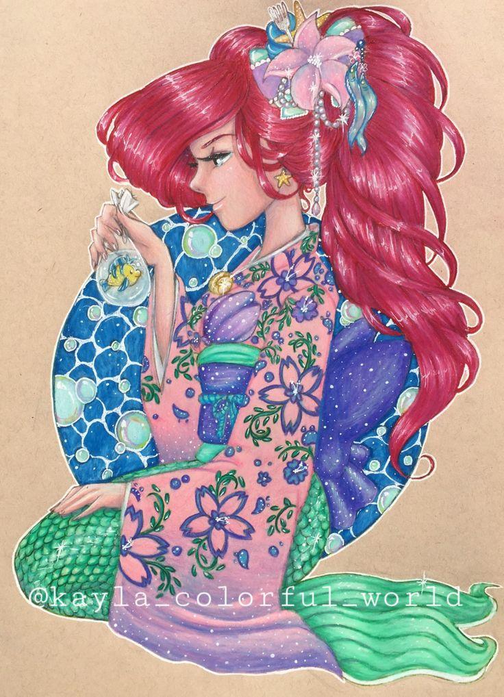Ariel Kimono by Kirrakashawn on @DeviantArt