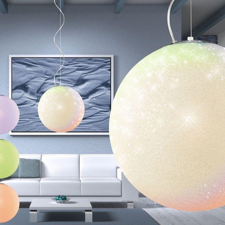 Details Zu Design LED 7 Watt Hnge Leuchte Glas Kugel Wohn Zimmer Tisch Beleuchtung EEK A