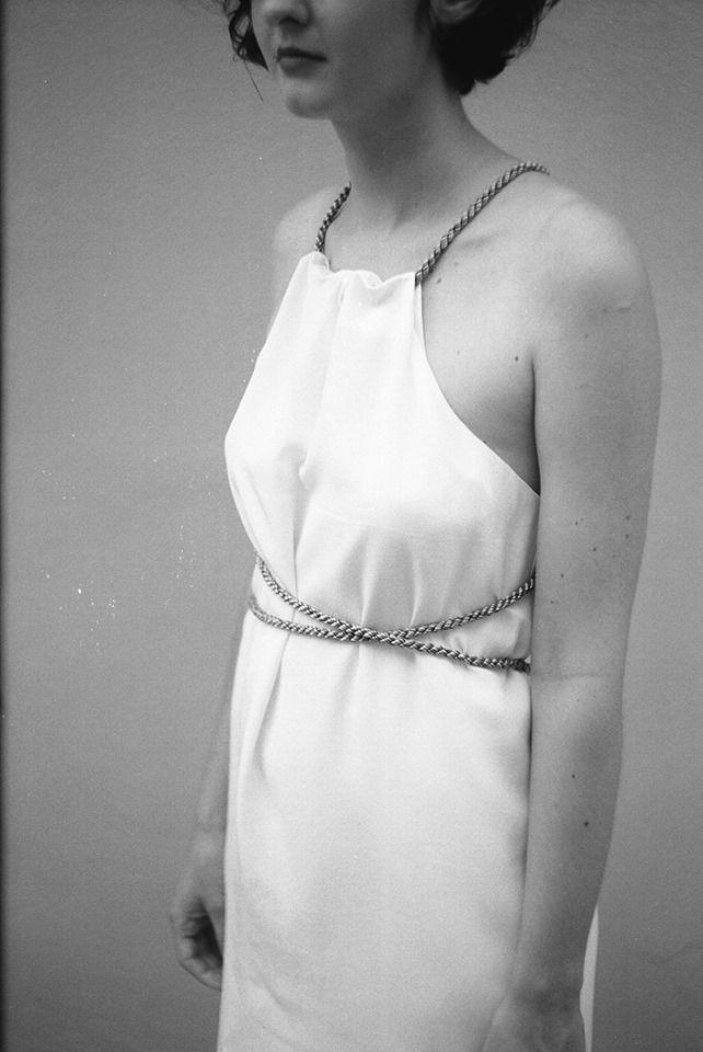 """White silk dress - """"Last Swalows""""/ """" Poslední vlaštovky"""" / Summer collestion. Available in store Pokojík - www.pokojik.com"""