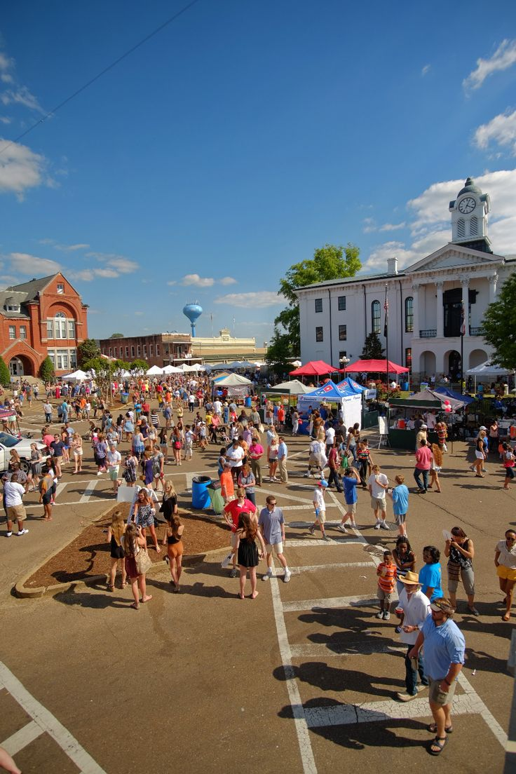 Oxford, MS during the Double Decker Arts & Music festival
