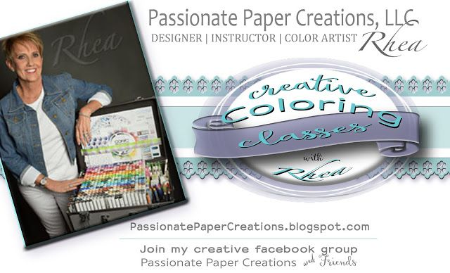 Passionate Paper Creations: Creative Coloring Classes By Rhea Now Available!
