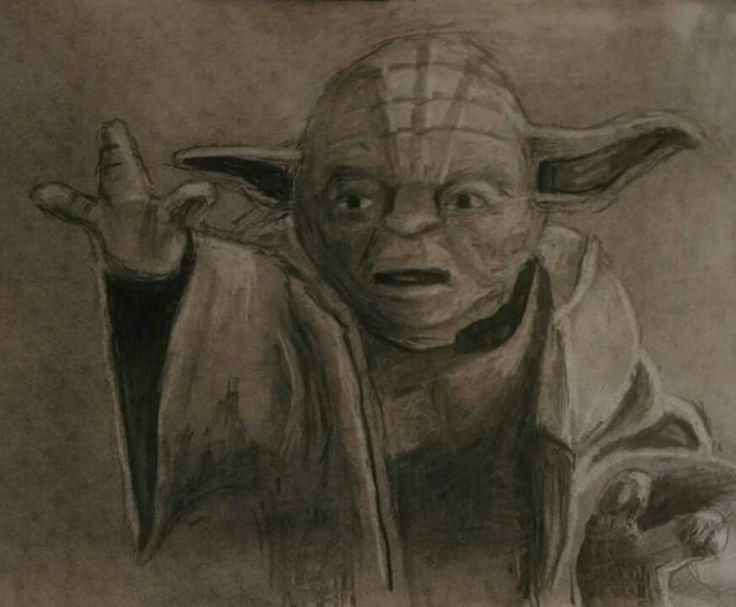 Yoda - Charcoal drawing