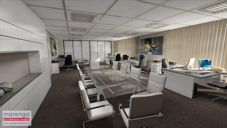 projekt biura w Krakowie; więcej na: http://marengo-architektura.pl/portfolio/projekt-biura/