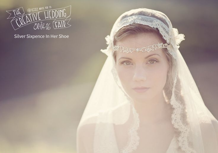 Silver Sixpence In Her Shoe - The Creative Wedding Fair by Etsy Manchester - Bridal Veil - Wedding Veil - Bridal Hair Piece