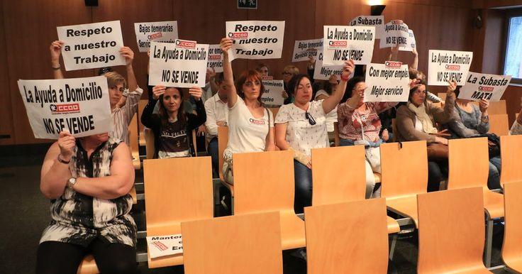Las trabajadoras de ayuda a domicilio a ancianos también protestan contra el Ayuntamiento