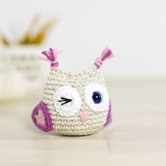 Free crochet pattern: Small amigurumi owl // Kristi Tullus (spire.ee)n ༺✿ƬⱤღ http://www.pinterest.com/teretegui/✿༻