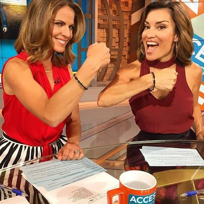 Did you see Natalie Morales and Kit Hoover wearing #MariaShireen on Access Hollywood