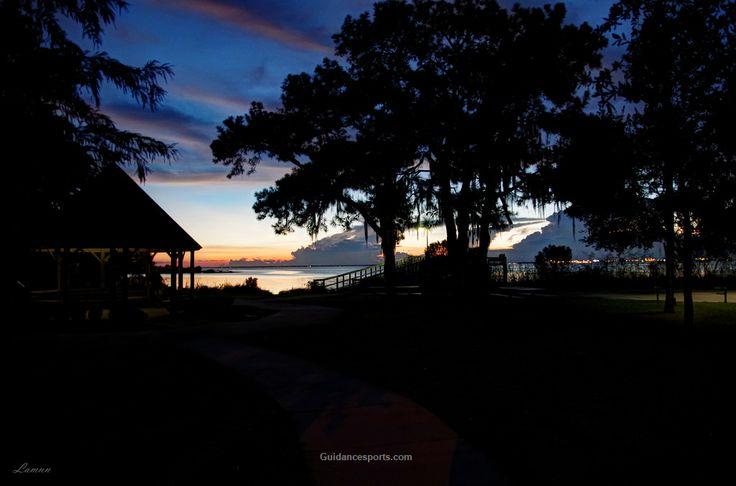 It's getting dark already... Bayfront Park, Daphne, Alabama