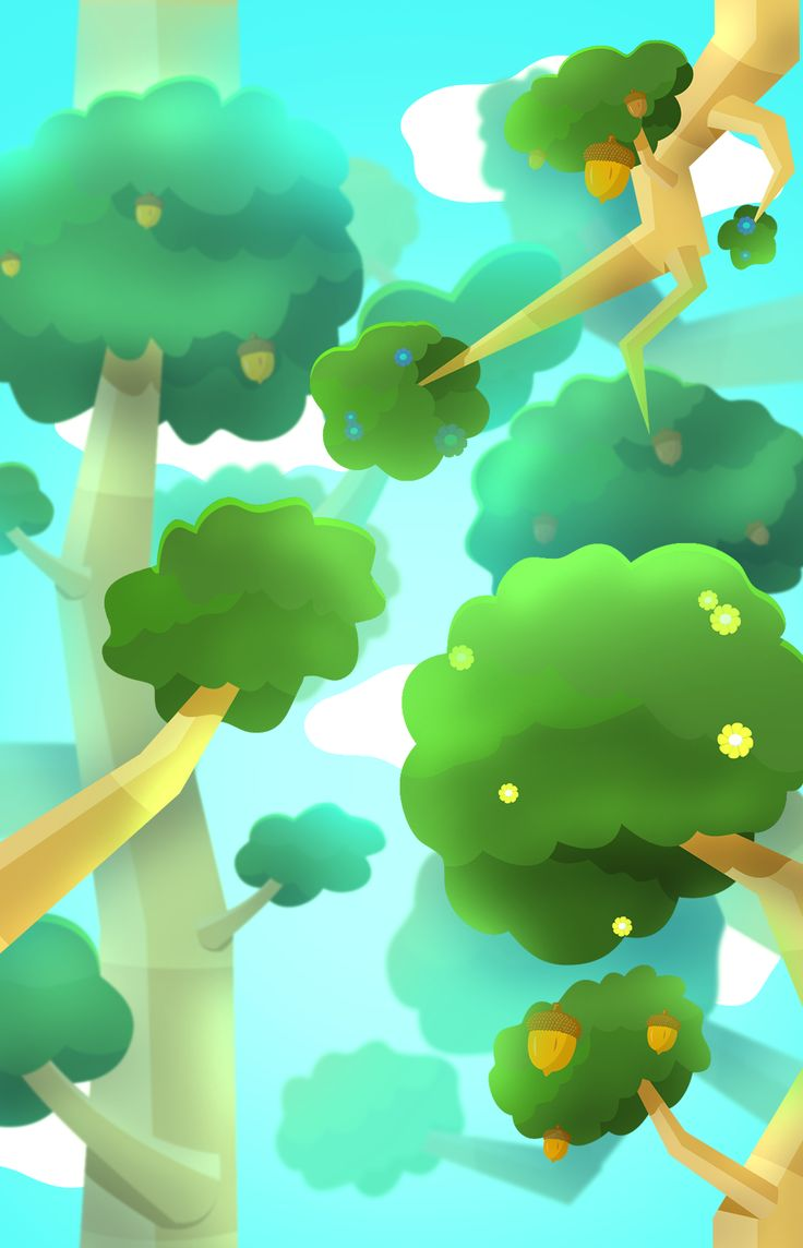 #Clumzee's Forest world is completely covered with thick, lush tree branches and plenty of places for our brave furball to climb! #EndlessClimber