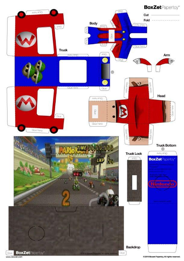 Dernier né de la série BoxZet, ce kit Mariokart devrait en amuser plus d'un… Composé d'une voiture, d'un Mario, et de la fameuse boîte, ce set collector est à télécharger de toute urgence… On ne présente plus Mario, personnage mythique…
