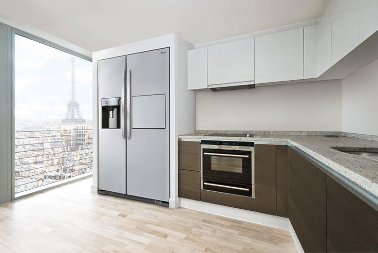Bildergebnis für amerikanischer kühlschrank küche