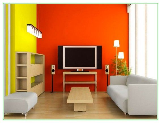 Great Share Post Title Orange And Yellow Accent Wall Paint Colors For Small Living Room