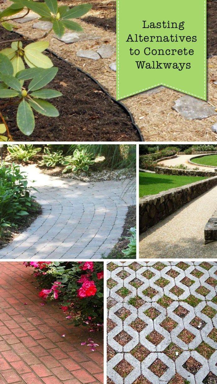 9 Lasting Alternatives To Concrete Walkways Concrete Walkway Walkway Diy Landscaping 400+ garden and backyard landscape design ideas
