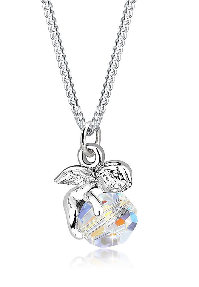 Elli Halskette »Engel Kugel Flügel Swarovski® Kristall Silber Mala« Jetzt bestellen unter: https://mode.ladendirekt.de/damen/schmuck/halsketten/silberketten/?uid=b6e8cb77-1847-5184-9dd2-f8c6dea22dae&utm_source=pinterest&utm_medium=pin&utm_campaign=boards #schmuck #halsschmuck #halsketten #silberketten