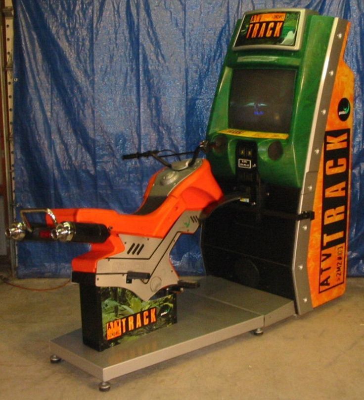 Atv Track 4 Wheel Simulator Racing Coin-op Video Game Complete, Nice Condition