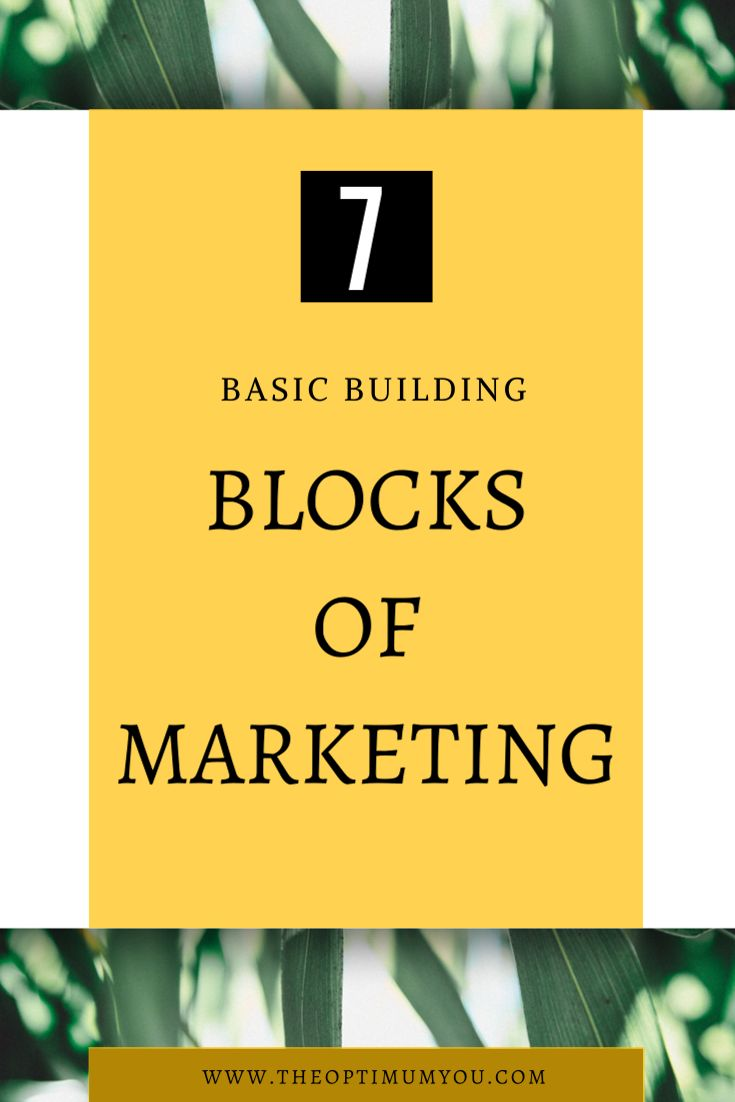 Marketing begins with the ideation of a product or service and ends with its deliverance into the customers' hands. The middle is where the basic building blocks of marketing are important.
