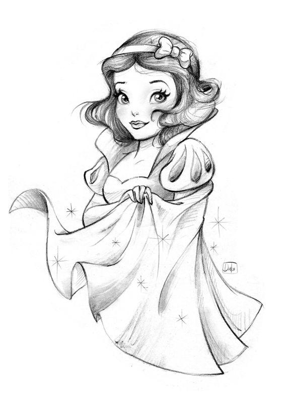 Disney Princess On Behance Disney Princess Drawings Disney Art Drawings Princess Sketches
