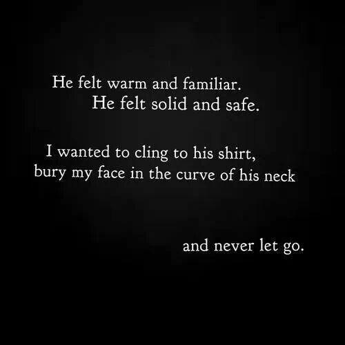 Esto es lo que siento cuando te abrazo. Quisiera poder abrazarte más y más, todos los días y a cada rato.
