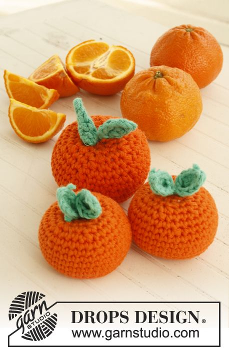 Crocheted Clementine - Free Crochet Pattern / Gratis mönster på virkad clementin