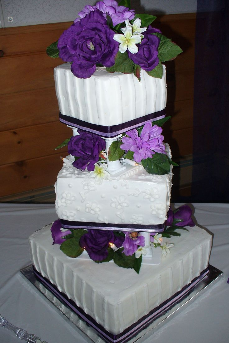 wedding cakes made with buttercream frosting square striped wedding cake i made all buttercream icing 24965