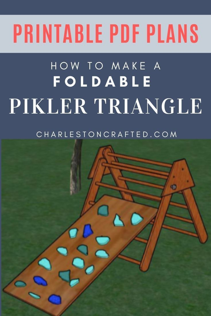 Diy Foldable Pikler Triangle With Printable Pdf Plans In 2020