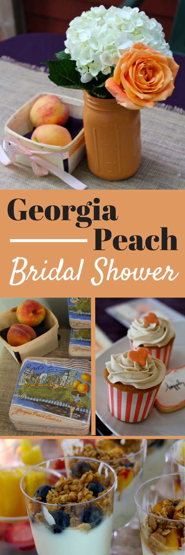Georgia Peach Bridal Shower. Great ideas for wedding showers or really any type of party.