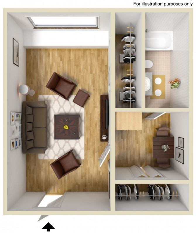 Looking to economize your living? This is the floorplan for you!