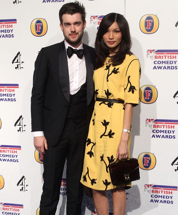 Jack Whitehall with girlfriend and Fresh Meat co-star Gemma Chan
