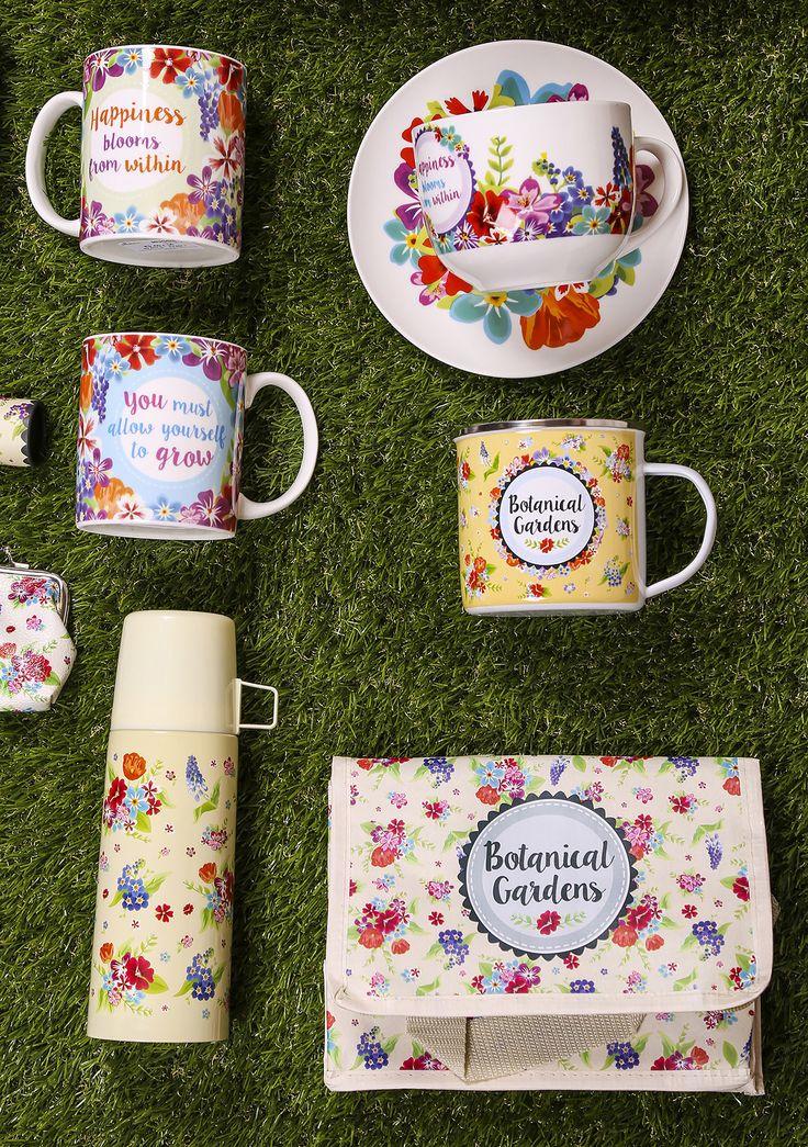 #Kolekce #BotanicalGardens obsahuje krásné keramické, porcelánové a smaltované #hrníčky, termo láhve a termo tašky. Vše co potřebujete na #piknik! #accessories #giftware #mug #flask #coolbag