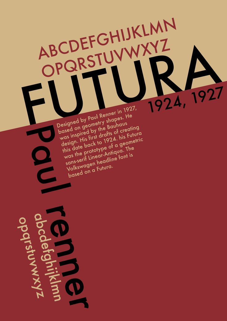 Typography Poster Futura 2nd Design